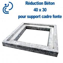 Réduction Béton 40x30 Pour Support Cadre Fonte