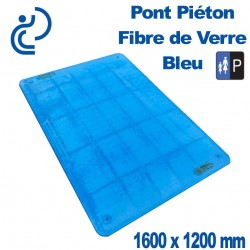 Pont Piéton Fibre de Verre Bleu 1600X1200