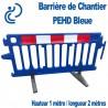 Barrière de Chantier PEHD Bleue H1000m x L2000 m