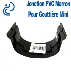 JONCTION DE GOUTTIERE MINI MARRON à coller