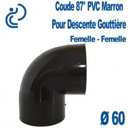 COUDE GOUTTIERE PVC MARRON 87° FF D60