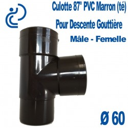 CULOTTE GOUTTIERE PVC MARRON 87° MF D60