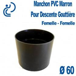 MANCHON GOUTTIERE PVC MARRON FF D60