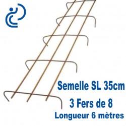 Semelle SL35 pour armature de Fondations