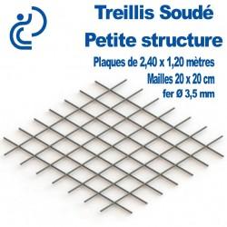 Treillis Soudé pour Petite Structure Plaque de 2.40x1.20 mètres