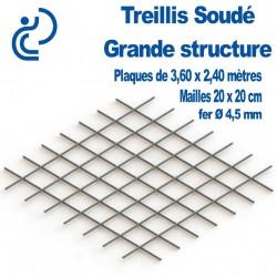 Treillis Soudé pour Grande Structure Plaque de 3.60x2.40 mètres
