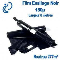 Film Ensilage Noir Coextrudé 180µm Largeur 8 mètres rouleau de 277m2