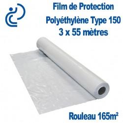 Film de Protection Polyéthylène Type 150 3x55m rouleau de 165m²