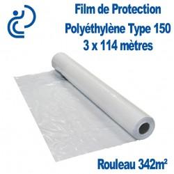 Film de Protection Polyéthylène Type 150 3x114m rouleau de 342m²