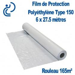 Film de Protection Polyéthylène Type 150 6x27.5m rouleau de 165m²