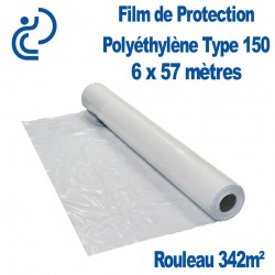 Film de Protection Polyéthylène Type 150 6x57m rouleau de 342m²