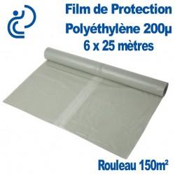 Film de Protection Polyéthylène 200µ 6x25m rouleau de 150m²