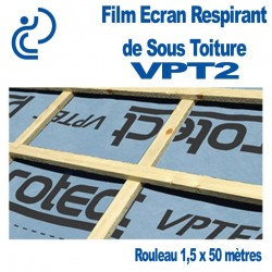 FILM ECRAN DE SOUS TOITURE RESPIRANT VPT2 (rouleau de 1,5x50ml)