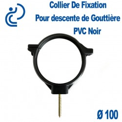 COLLIER DE GOUTTIERE PVC NOIR D100