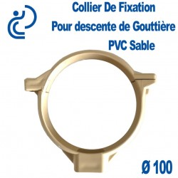 COLLIER DE GOUTTIERE PVC Sable D100