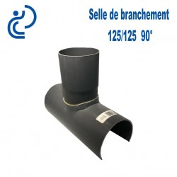 Selle de Branchement 125x125 à 90° PVC à coller