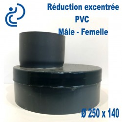 REDUCTION EXCENTREE PVC 250X140 MF