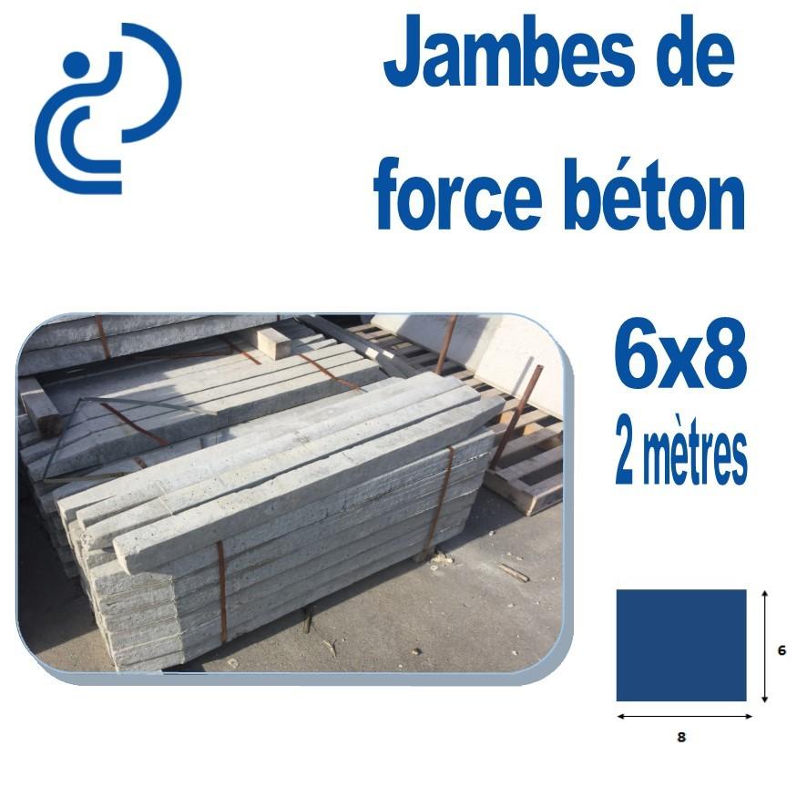 Jambe De Force Béton 6x8 Longueur 2 Mètres