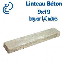 Linteau de Construction Béton 9x19 longueur 1,40 mètres