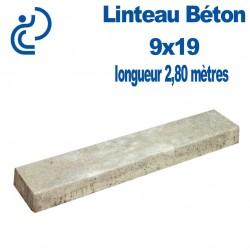 Linteau de Construction Béton 9x19 longueur 2,80 mètres