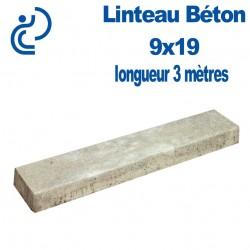Linteau de Construction Béton 9x19 longueur 3 mètres
