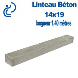 Linteau de Construction Béton 14x19 longueur 1,40 mètres