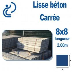 Lisse Béton Carrée 8x8 longueur 2 mètres