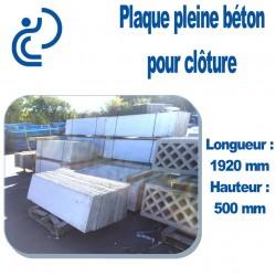 Plaque de Clôture Béton Pleine Longueur 1920 mm x Hauteur 500 mm