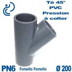 Culotte 45° PVC Pression D200 PN6 à coller