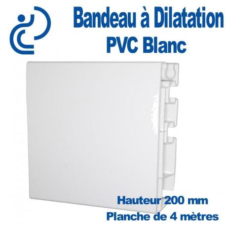 Bandeau à Dilatation Blanc Hauteur 200 mm en longueur de 4 mètres