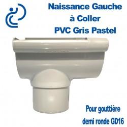 NAISSANCE GAUCHE A COLLER EN PVC GRIS PASTEL POUR GD16