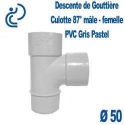 CULOTTE GOUTTIERE PVC GRIS PASTEL 87° MF D50