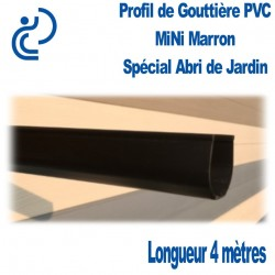GOUTTIERE PVC MINI MARRON à coller en longueur de 4ml