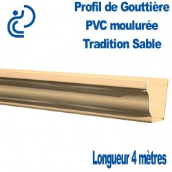GOUTTIERE PVC TRADITION SABLE en longueur de 4ml