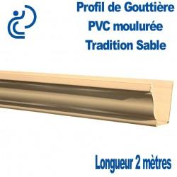 Gouttière PVC TRADITION ton sable moulurée en longueur de 2ml