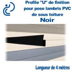 PROFILE DE FINITION U NOIR POUR LAMBRIS longueur de 4ml