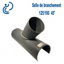 Selle de Branchement 125x100 à 45° PVC à coller