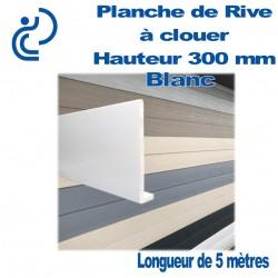 PLANCHE DE RIVE A CLOUER PVC BLANC en L Ep9 H300 longueur de 5ml