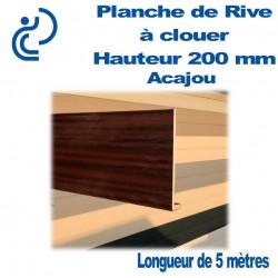 PLANCHE DE RIVE A CLOUER PVC ACAJOU H200 en L Ep9 longueur de 5ml
