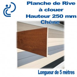 PLANCHE DE RIVE A CLOUER PVC CHENE en L Ep9 H250 longueur de 5ml