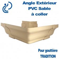 ANGLE EXTERIEUR A COLLER EN PVC SABLE POUR GOUTTIERE TRADITION