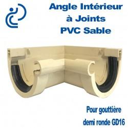 Angle Intérieur à Joints PVC Sable Pour GD16