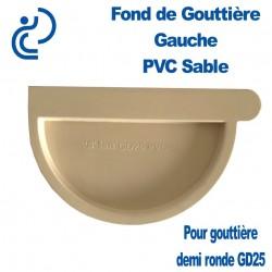 FOND DE GOUTTIERE GAUCHE EN PVC SABLE POUR GD25