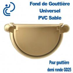 FOND DE GOUTTIERE UNIVERSEL EN PVC SABLE POUR GD25