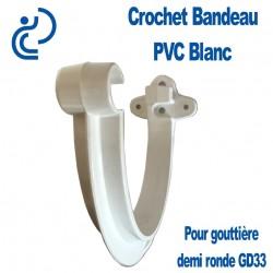 Crochet bandeau PVC Blanc pour gouttière GD33