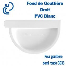 FOND DE GOUTTIERE DROIT EN PVC BLANC POUR GD33