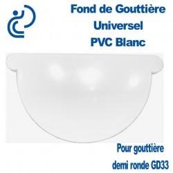 FOND DE GOUTTIERE UNIVERSEL EN PVC BLANC POUR GD33