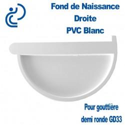 FOND DE NAISSANCE DROIT EN PVC BLANC POUR GD33