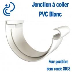 Jonction PVC à coller blanche pour gouttière GD33