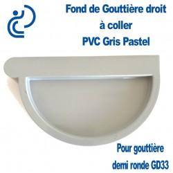 Fond de Gouttière Droit en PVC gris pastel à Coller pour GD33
